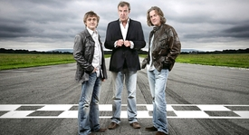Richard Hammond, Jeremy Clarkson a James May.