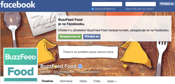 Profil BuzzFeed Food na Facebooku.